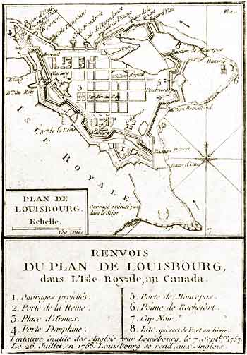 Plan of Louisbourg, 1758