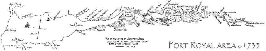 Port Royal area, 1733, Mitchell